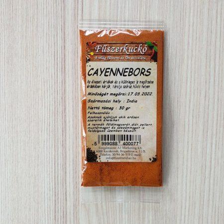 Cayennebors őrölt fűszer
