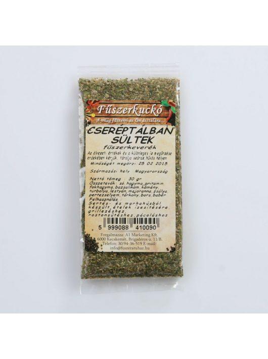 Cseréptálban sültek  fűszerkeverék