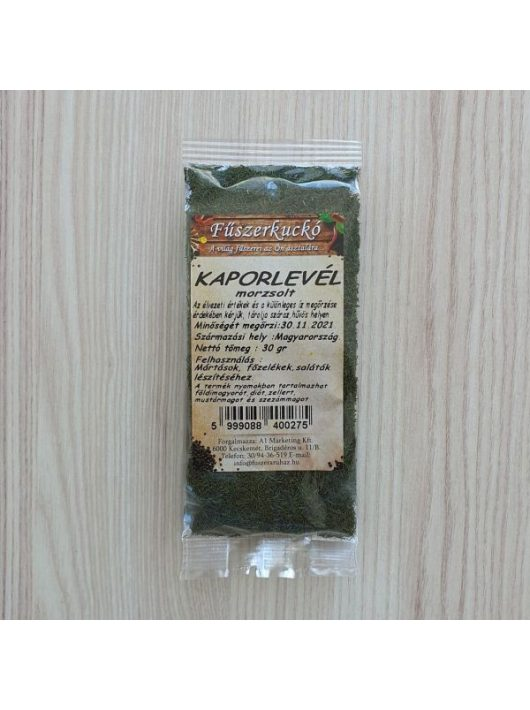 Kaporlevél zöldfűszer, morzsolt