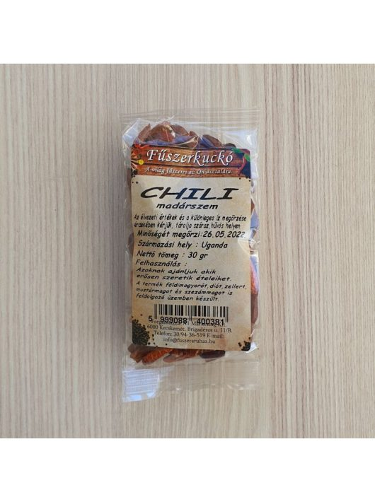 Madárszem chili egész