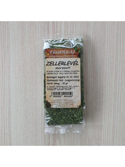 Zellerlevél morzsolt