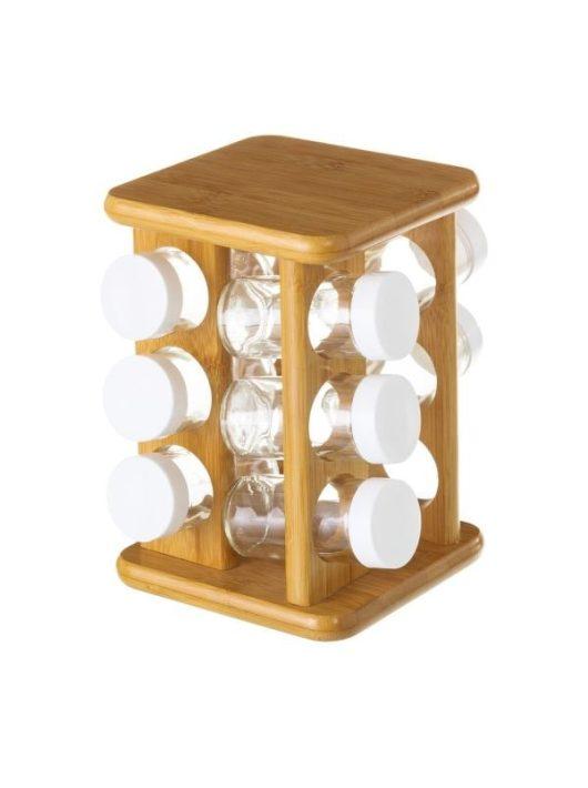 12 részes asztali forgó fűszertartó