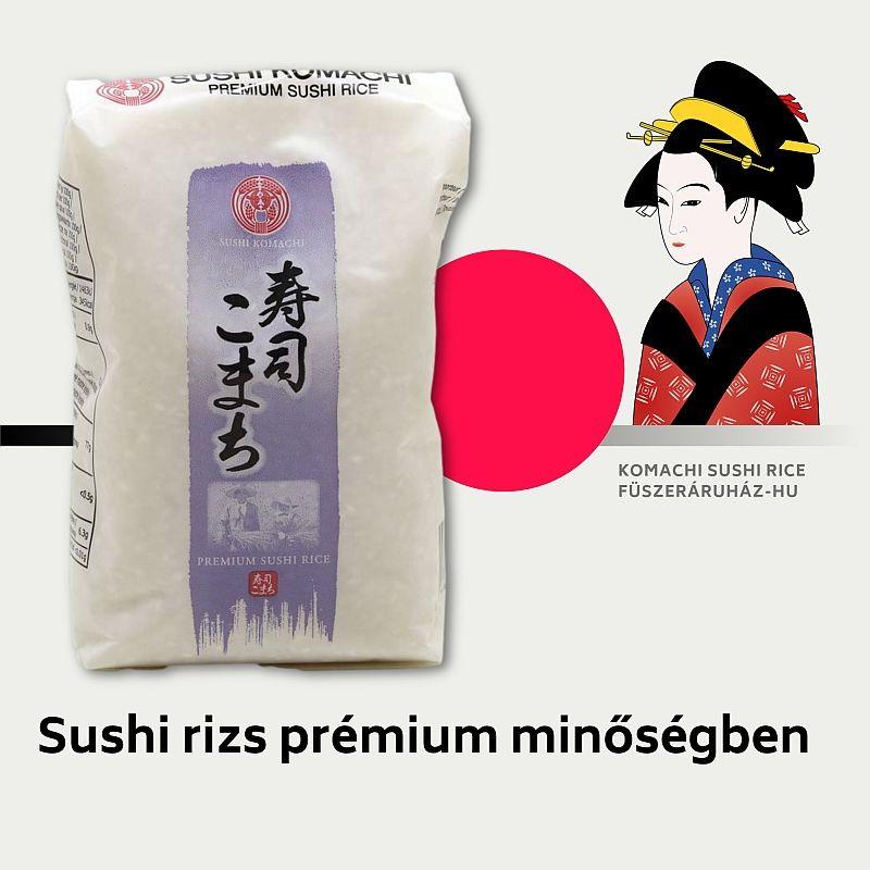 Sushi, szusi rizs prémium minőségű, 500 g