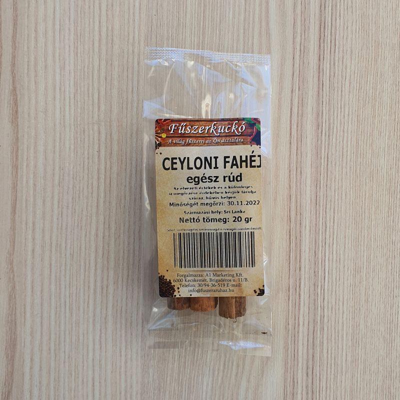 Ceyloni fahéj egész rudak, 20 g