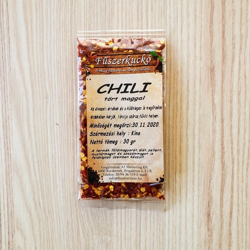 Chili tört maggal fűszer, 30g
