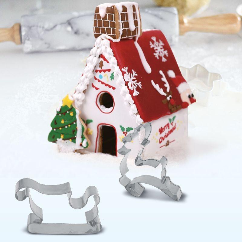 Karácsonyi süteménykiszúró forma fémből