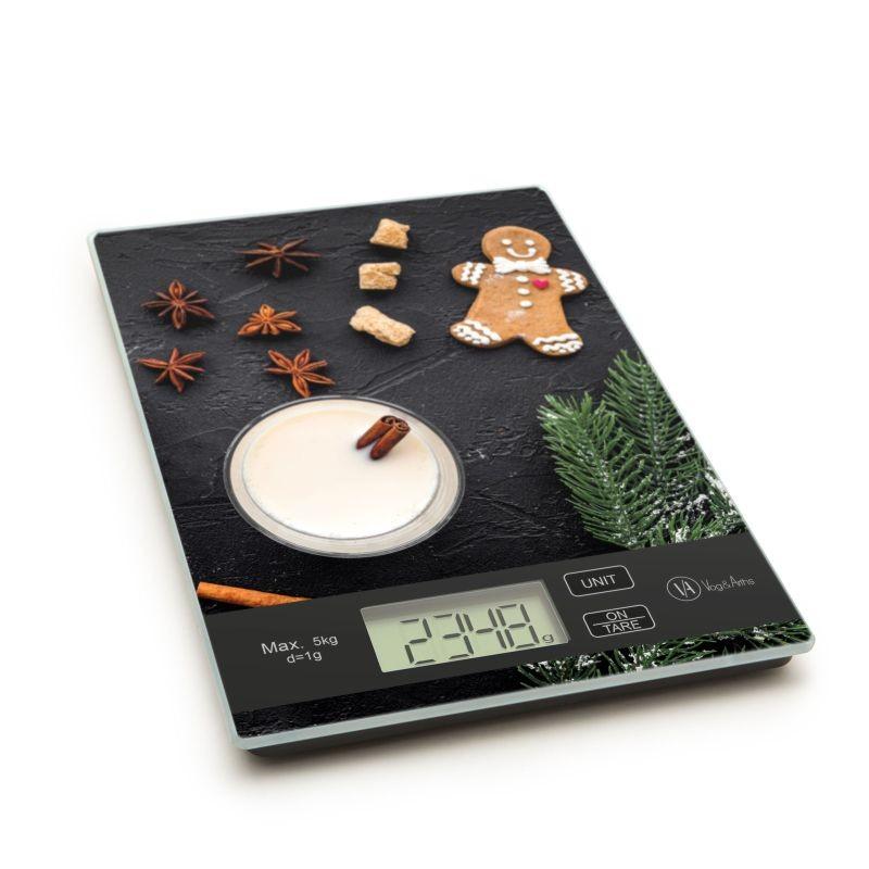 Konyhai mérleg mézeskalács mintával, 5 kg-os méréshatárral